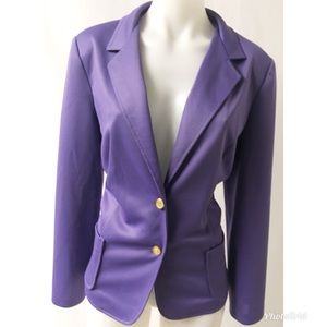 Purple & Gold Vintage Blazer Size 16